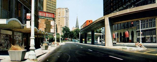 Gniewek_Ghost-Train-Bagley-Avenue-Detroit_2003_oil-on-linen